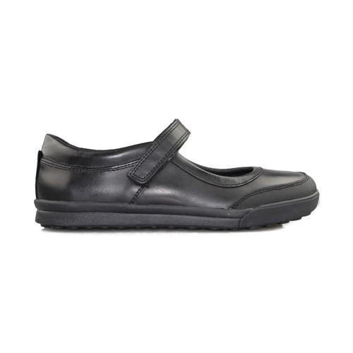 Chaussures Fille Ballerines / babies Geox collège de carnaval fille NOIR