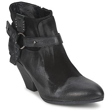 Bottines / Boots Strategia SANGLA Noir / Argent 350x350