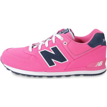 Chaussures Fille Baskets mode New Balance Kl574 Enfant Rose
