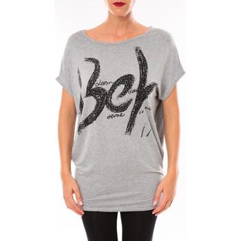 T-shirts manches courtes Vera & Lucy Top MC3071 gris