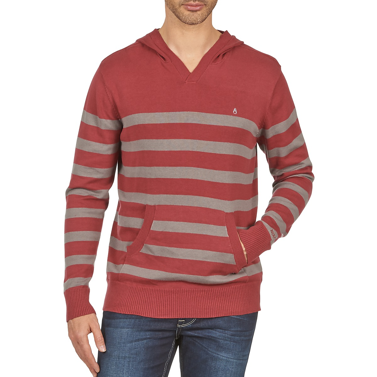 Nixon MCKOY SWEATER MEN'S Bordeaux