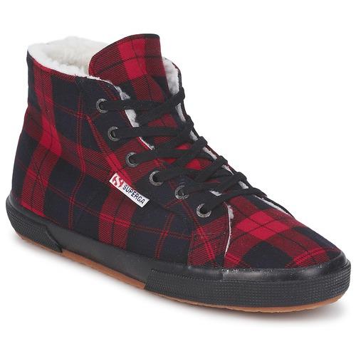 Chaussures Baskets montantes Superga 2095 Rouge / Noir