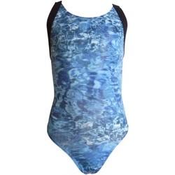 Vêtements Fille Maillots de bain 1 pièce Princesse Ilou Maillot de bain fille 1 pièce brillant imprimé mer Bleu