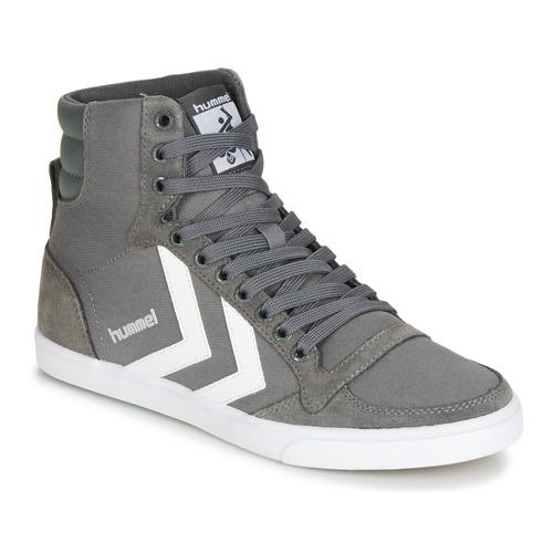 Chaussures Baskets montantes Hummel TEN STAR HIGH Gris / Blanc