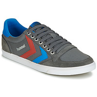 Chaussures Homme Baskets basses Hummel TEN STAR LOW CANVAS Gris / Bleu / Rouge