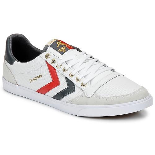 Chaussures Baskets basses Hummel TEN STAR LOW Blanc / Gris / Rouge