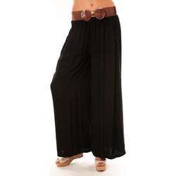 Vêtements Femme Pantalons fluides / Sarouels De Fil En Aiguille Pantalon Trionfo noir Noir