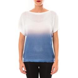 Vêtements Femme T-shirts manches courtes De Fil En Aiguille Top Carla blanc Blanc