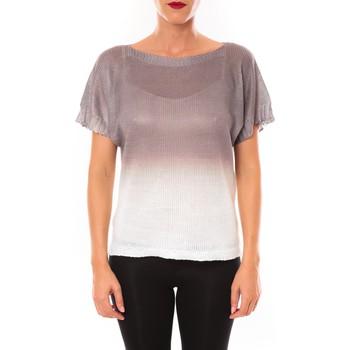 Vêtements Femme T-shirts manches courtes De Fil En Aiguille Top Carla marron Marron