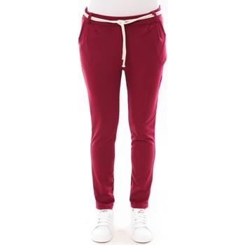 Vêtements Femme Pantalons 5 poches De Fil En Aiguille Pantalon Sandra bordeaux Rouge