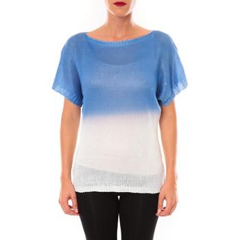 Vêtements Femme T-shirts manches courtes De Fil En Aiguille Top Carla bleu Bleu