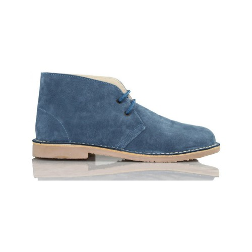 Chaussures Baskets montantes Arantxa Safari botte en cuir e de AR BLEU