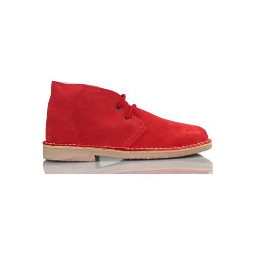 Chaussures Baskets montantes Arantxa Safari botte en cuir e de AR ROUGE