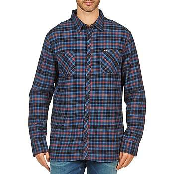 Chemises Rip Curl OBSESSED CHECK FLANNEL L/S SHIRT Bleu 350x350