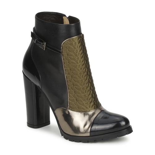 Chaussures Femme Bottines Etro FEDRA Noir/Kaki/Argent