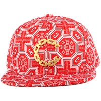 Accessoires textile Homme Casquettes Crooks & Castles Strapback Crooks and Castles Thuxury Venetian Rouge Rouge