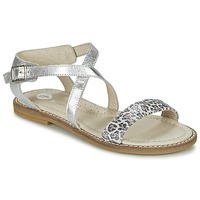 Chaussures Fille Sandales et Nu-pieds Garvalin COSMOS Argent