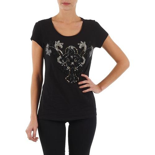 Vêtements Femme T-shirts manches courtes S.Oliver T-SHIRT MANCHES COUR Noir