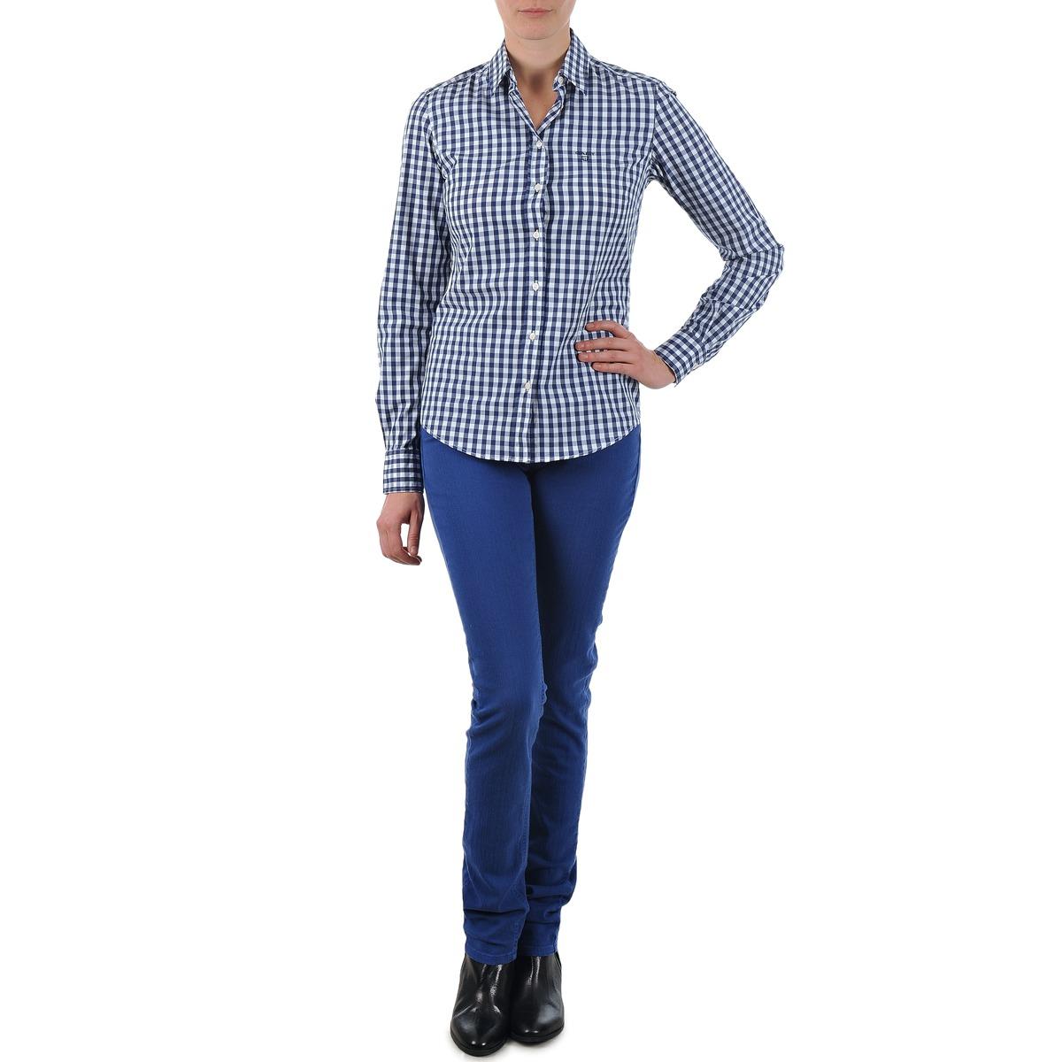 Gant N.Y. KATE COLORFUL TWILL PANT Bleu