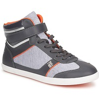 Chaussures Femme Baskets montantes Dorotennis MONTANTE LACETS VELCRO Anthracite