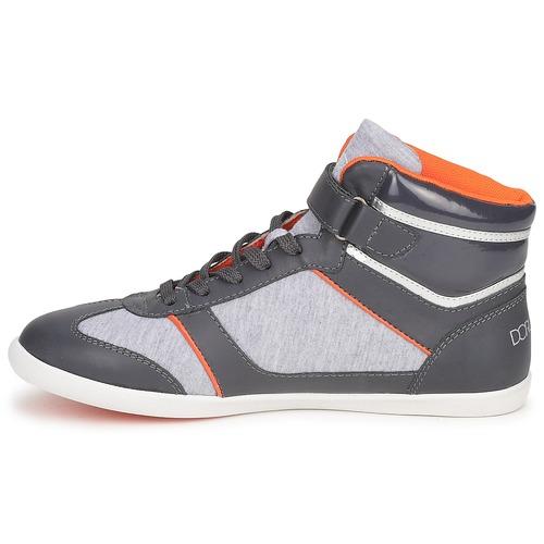 Anthracite Dorotennis Lacets Velcro Montante Femme Baskets Chaussures Montantes BorxdeC