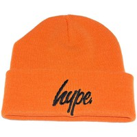 Bonnets Hype Bonnet à Revers  Script Orange et Noir