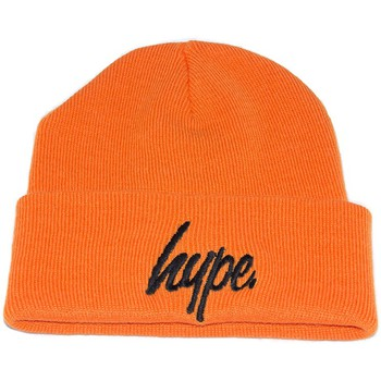 Bonnet Hype Bonnet à Revers Script Orange et Noir