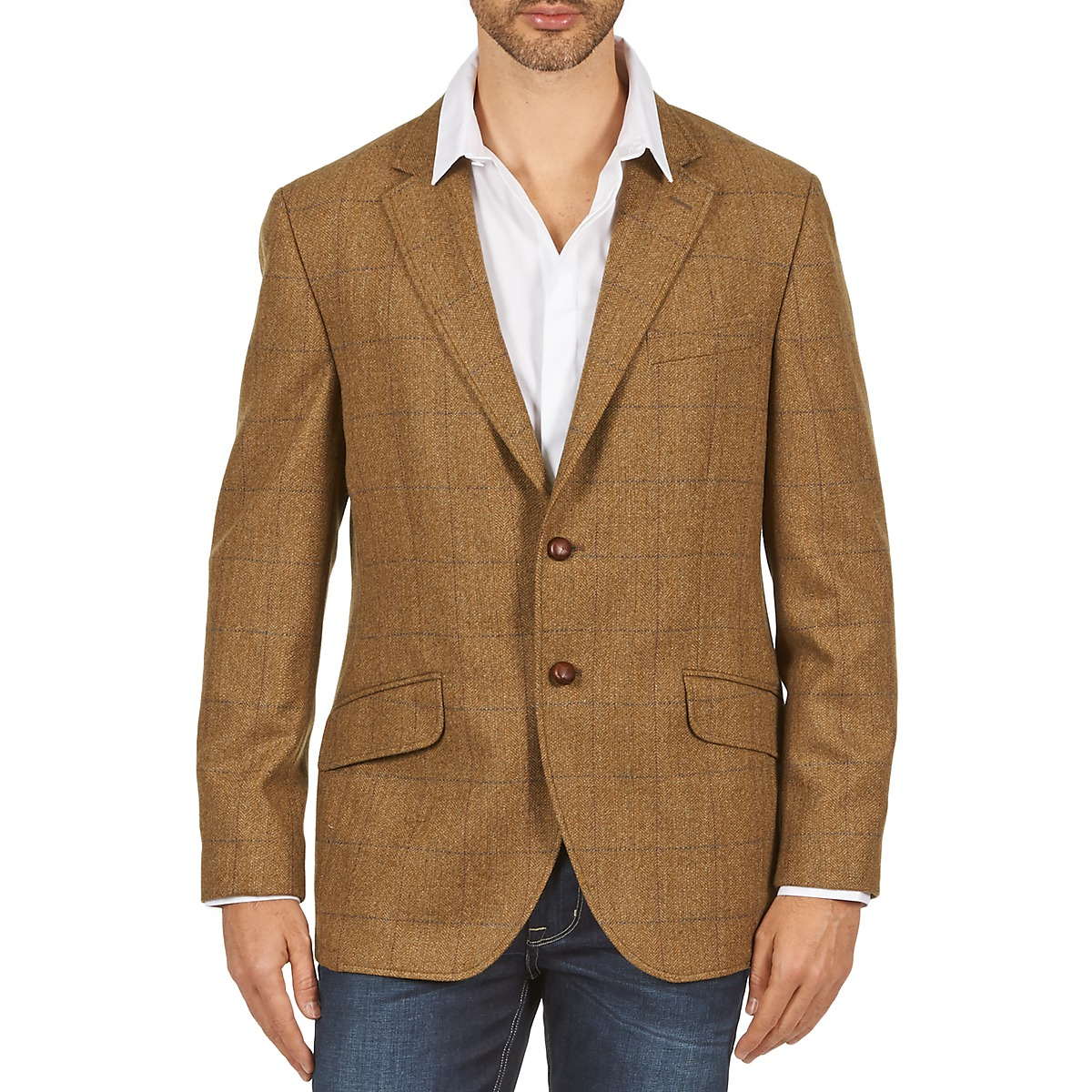 Hackett TWEED WPANE Marron