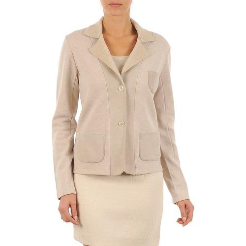Vêtements Femme Vestes / Blazers Majestic 244 Beige