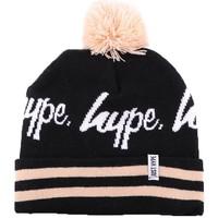 Accessoires textile Garçon Bonnets Hype Bonnet à Pompon  Noir et Beige Noir