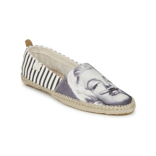 Chaussures Espadrilles Eleven Paris MARYLIN blanc/noir/imprimé