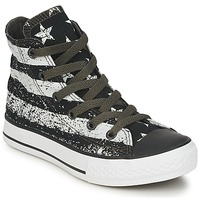Chaussures Enfant Baskets montantes Converse ALL STAR ROCK STARS & BARS HI Noir / Blanc