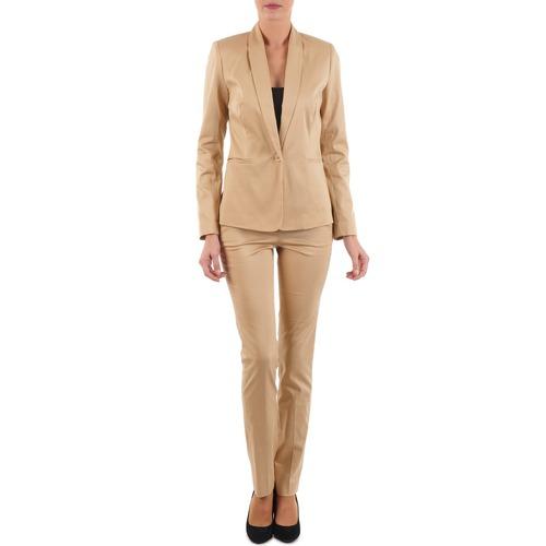 Vêtements Femme Pantalons 5 poches La City PBASIC Beige