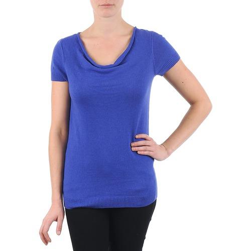 Vêtements Femme T-shirts manches courtes La City PULL COL BEB Bleu