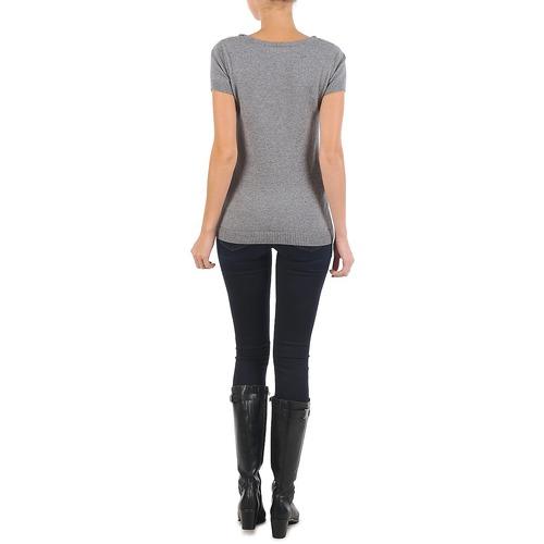 PULL COL BEB  La City  t-shirts manches courtes  femme  gris