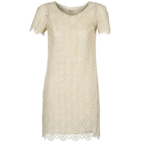 Vêtements Femme Robes courtes Stella Forest ARO051 Ecru /Or