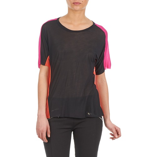 American Retro T Courtes Manches NoirRose Carole Femme shirts wkiTOXuPZ