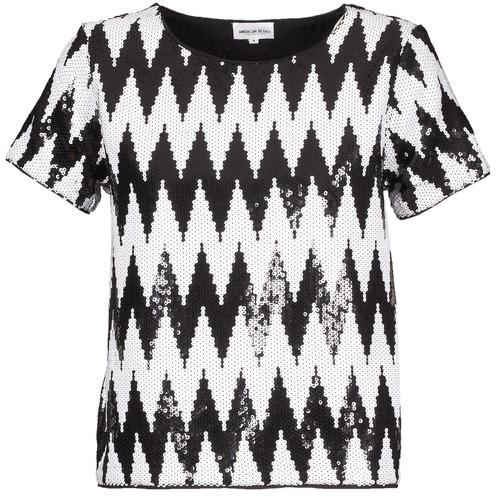 Vêtements Femme T-shirts manches courtes American Retro GEGE Noir / Blanc