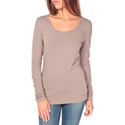 T-shirts manches longues Tom Tailor Lara Stretch Longsleeve Taupe