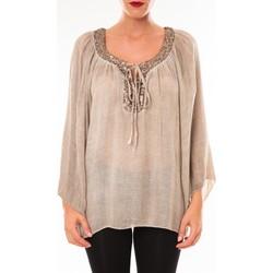 Vêtements Femme Tops / Blouses Tcqb Tunique TDI paillettes taupe Marron