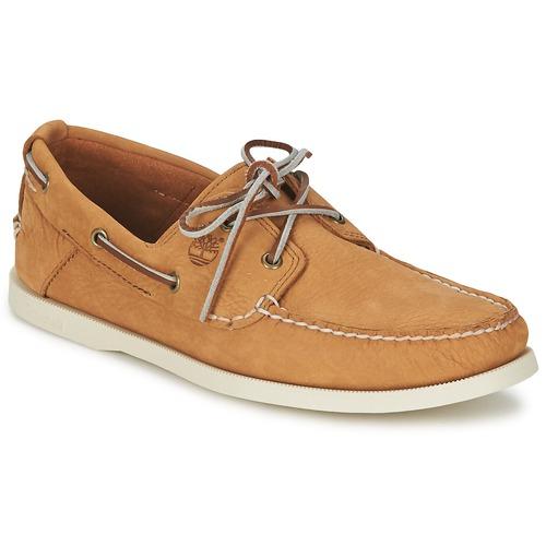 Chaussures bateau Timberland EK HERITAGE BOAT 2 EYE Beige 350x350