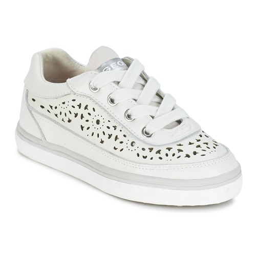 Chaussures Fille Baskets basses Geox CIAK G. H Blanc