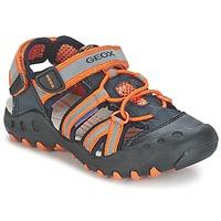 Chaussures Garçon Sandales sport Geox SAND.KYLE C Marine / Orange