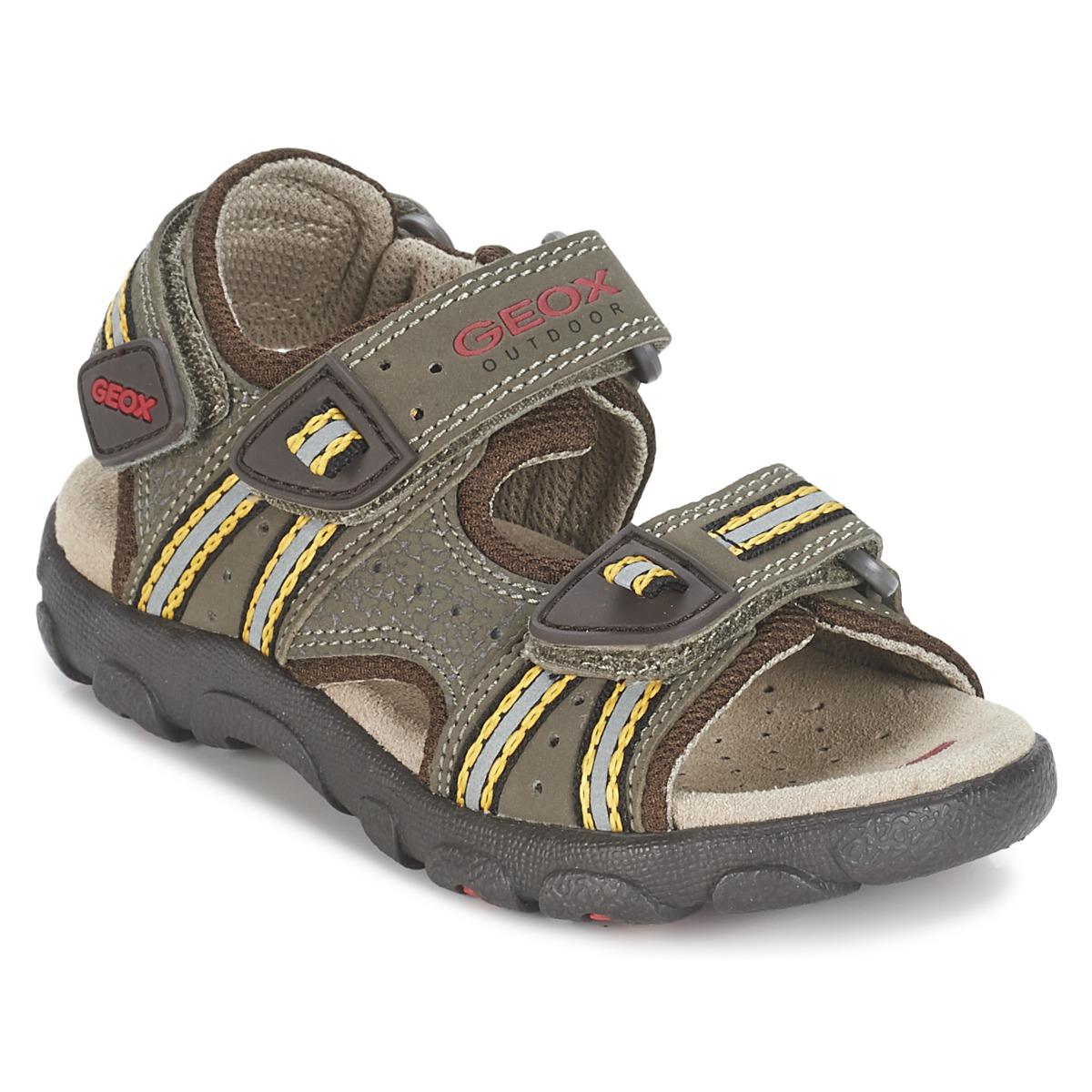 geox s strada a marron ocre livraison gratuite avec chaussures sandale. Black Bedroom Furniture Sets. Home Design Ideas