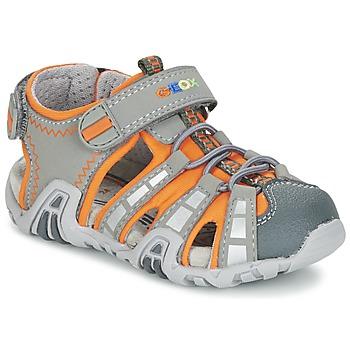 Chaussures Garçon Sandales sport Geox SANDAL KRAZE B Gris / Orange
