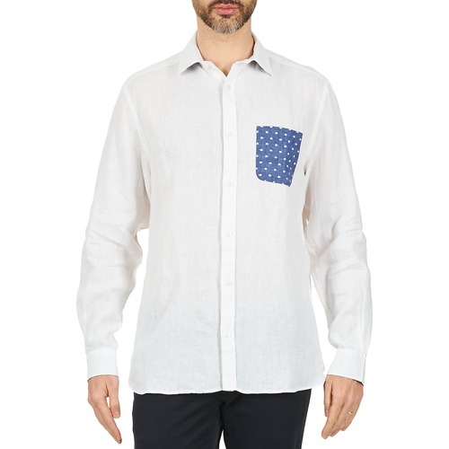 Homme Blanco Chaca Longues Serge Chemises Manches Blanc E9WDH2I