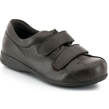 Chaussures Femme Baskets basses Calzamedi Unisexe Velcro  pied diabétique BRUN