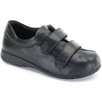 Chaussures Femme Boots Calzamedi Unisexe Velcro  pied diabétique NOIR