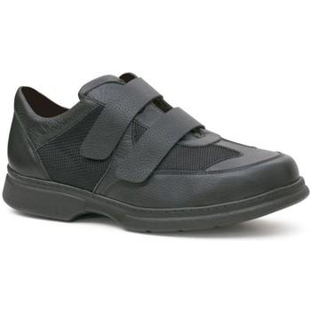 Chaussures Homme Derbies Calzamedi deux chaussures velcro pied diabétique BLACK