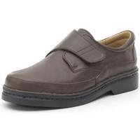 Chaussures Homme Derbies Calzamedi chaussures confortables avec velcro cousues à la m BRUN
